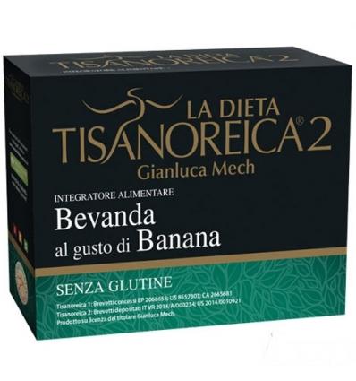 Tisanoreica 2 bevanda al gusto Banana 4 preparati
