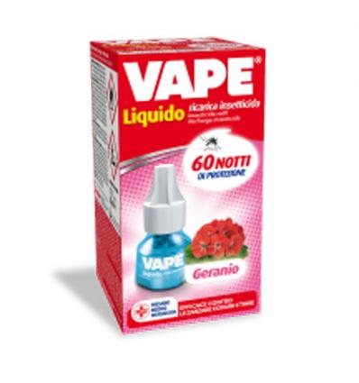 Vape ricarica insetticida liquido geranio 60 notti