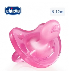 Chicco gommotto physio 6-12m silicone 1pz rosa