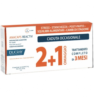 Ducray Anacaps reactiv capelli 60cps + 30cps promo - ipump.it