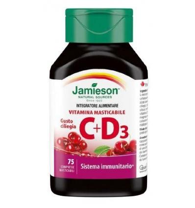 Jamieson Vitamina C 500 + D3 ciliegia 75cpr